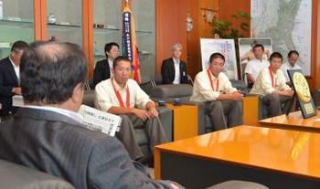 土浦日大 甲子園で堂々と戦う 県庁や土浦市役所など訪問