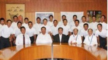 秀岳館 「目指すは日本一」 八代市長訪問