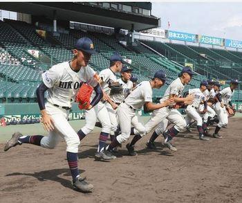 彦根東 初戦が楽しみ はつらつ甲子園練習