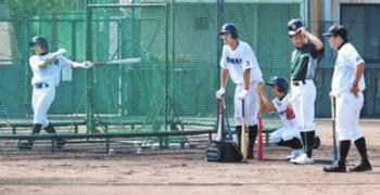津田学園、済美の投手陣想定 変化球の対応確認