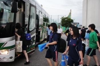 日本文理応援団が甲子園へ出発 「選手の力に」