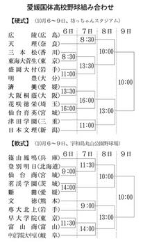 愛媛国体・特別競技 高校野球硬・軟 組み合わせ決定