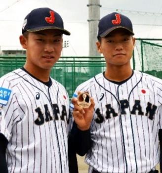 野球U-18W杯3位、福大大濠・三浦、古賀選手に聞く