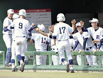 秋季福島県大会「ベスト8」決まる 堅実に福島商、采配ピタリ