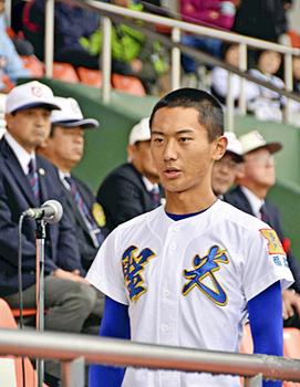 「秋季東北高校野球」開幕 聖光学院・矢吹主将が「選手宣誓」