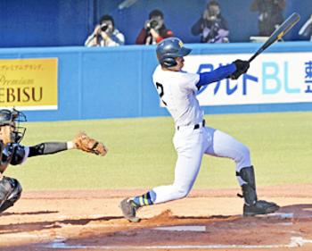 捕手・大松が攻守存在感「来年つなげる」 明治神宮野球・高校