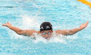 競泳男子100バタ、山本雄太初優勝 埼玉県新人大会