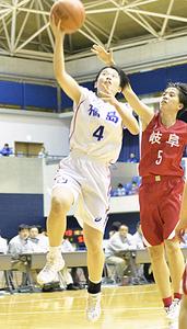 福島県チーム、4強ならず いわて国体・少年女子バスケット