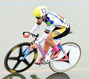 学法石川・根本が2位 いわて国体・自転車少年男子スクラッチ