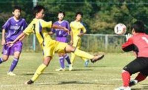 池田など2回戦へ 全国高校サッカー徳島大会