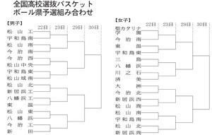 高校選抜バスケ 愛媛県予選22日開幕