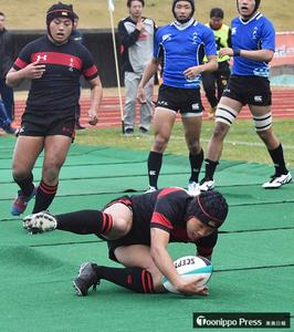 青森北、史上初6連覇 全国高校ラグビー青森県予選
