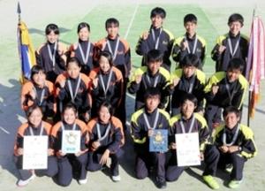 相生学院、アベック優勝 兵庫県高校新人テニス
