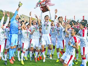 尚志3連覇、全試合で無失点 高校サッカー福島県大会