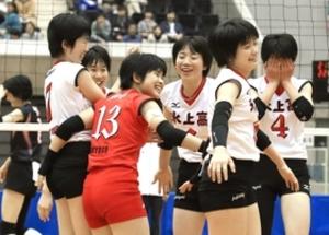 全校高校バレー 氷上、頼れるエース 兵庫県 予選女子