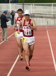 高校陸上 佐賀県 山下(鳥栖工)男子5000競歩大会新