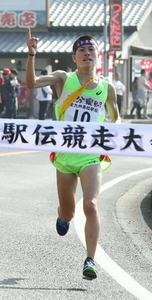 東明男子初の頂点 九州高校駅伝