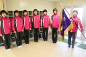 山口市内高校3校で壮行式 全国大会出場、健闘誓う