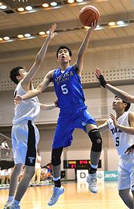 男子・盛岡南が初戦突破 全国高校選抜バスケ