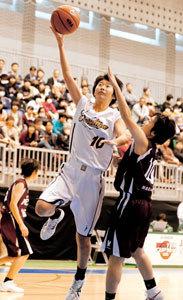 全国高校バスケ女子1回戦 聖カタリナ接戦制す