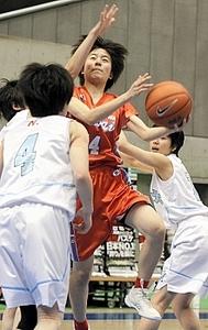 女子・東海大諏訪、初戦敗退 高校選抜バスケ