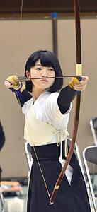 福岡高・松本が8位 全国高校選抜弓道