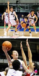 小林、初戦突破ならず 全国高校選抜バスケ