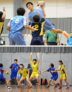 秀峰男女V3 宮崎県高校選抜ハンドボール