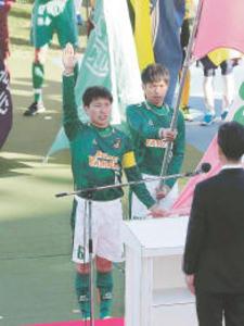青森山田・主将が選手宣誓 全国高校サッカーが開幕