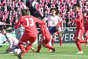 佐野日大、堅守で初戦突破 和歌山北に1-0 全国高校サッカー