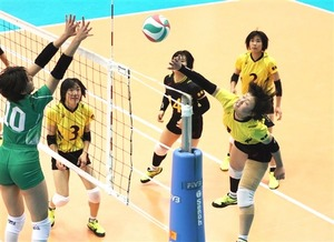 富士見、惜敗 バレーボール全日本高校選手権準々決勝