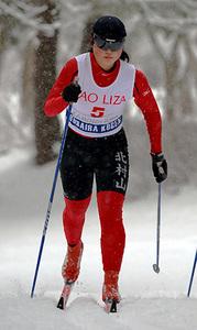 スキー 女子5キロクラシカル 初優勝の本間、先輩見据え「まだまだ」