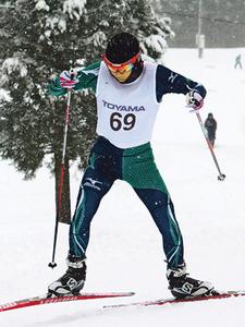 広瀬崚(雄山1年)初優勝 県高校総体スキー距離フリー