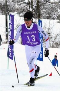 女子5キロクラシカル、田中(花輪)V 秋田県高校スキー