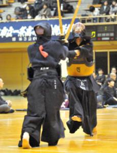 団体・奈良大付が男女V 全国高校選抜剣道奈良県予選