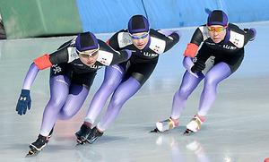 スケート 全国高校選手権 山形中央女子、心一つに「最強」証明