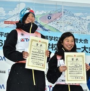 女子アルペン、長野県勢30年ぶりワン・ツー  高校スキー