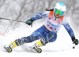荒井(富山第一)が43位 スキー高校総体アルペン女子大回転