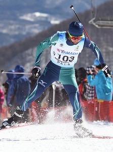 広瀬(雄山1年)が準優勝 高校総体スキー距離フリー