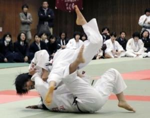 夙川先鋒の阿部けん引 柔道近畿高校新人大会
