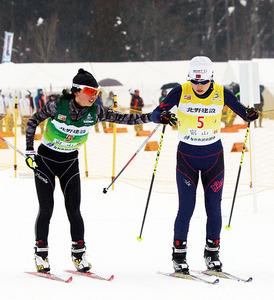 距離リレー富山県勢、女子6位が最高 ながの冬季国体