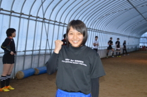 ラグビー NZに留学 中標津高女子部員の佐藤さん