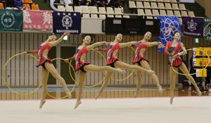 全国高校選抜大会 新体操、愛媛・済美が笑顔の15位
