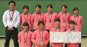 全国選抜高校テニス 女子柳川が準優勝
