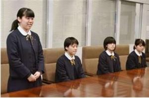 選抜 フェンシング 聖霊、秋田県教育庁で優勝報告