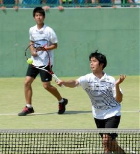 テニス・佐賀県高校選手権 佐賀西・宮原が優勝