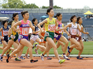 女子1500、桂・青松が大会新V 京都府高校総体