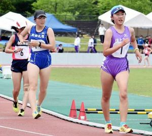陸上・女子競歩、木村和が大会新V 秋田県高校総体