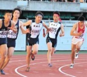 陸上男子400リレー、浜工V40秒台連発 静岡県高校総体