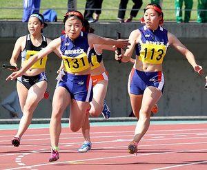 陸上・女子400R、鳥取城北大会新V 鳥取県高校総体